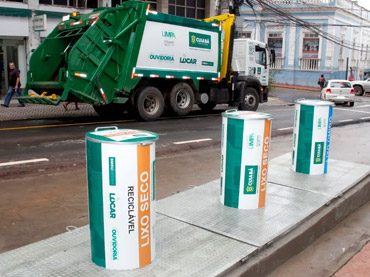 Primeiras lixeiras subterrâneas são instaladas no Centro de Cuiabá